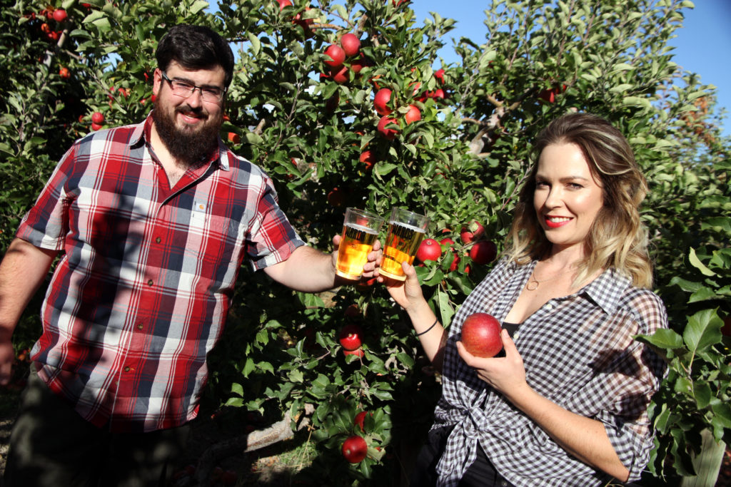Cody and Kristy in the Orchard
